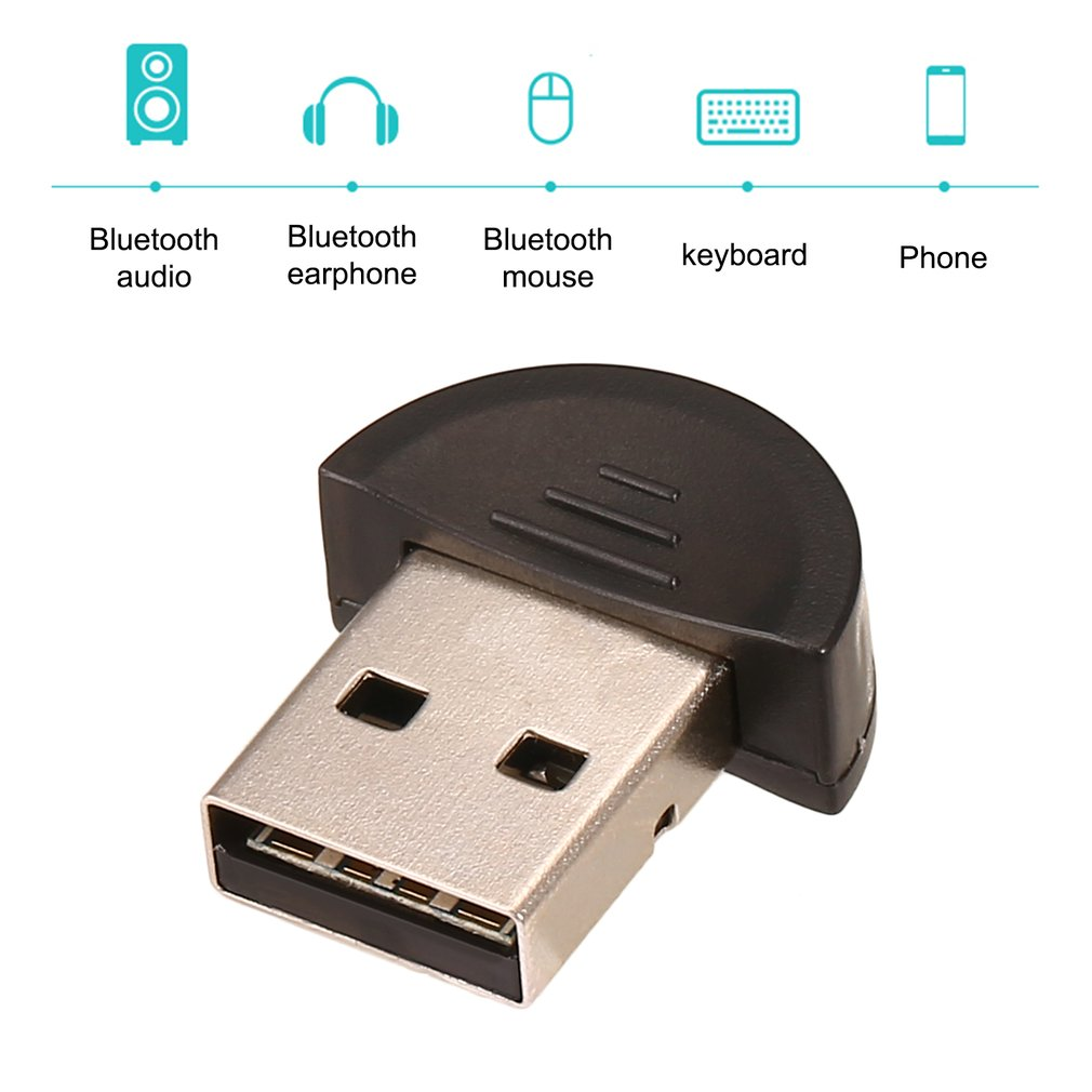 Universal Mini USB Bluetooth 2.0 Adapter Dongle For PC Laptop For WIN XP Vista black 0