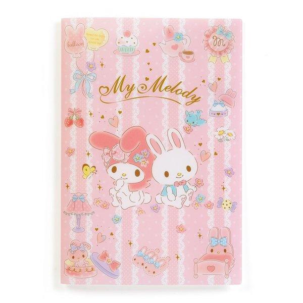 【真愛日本】18090300015收納夾書套B6-MM兔子蕾絲ADG美樂蒂melody年曆本收納套卡片套手帳收納包