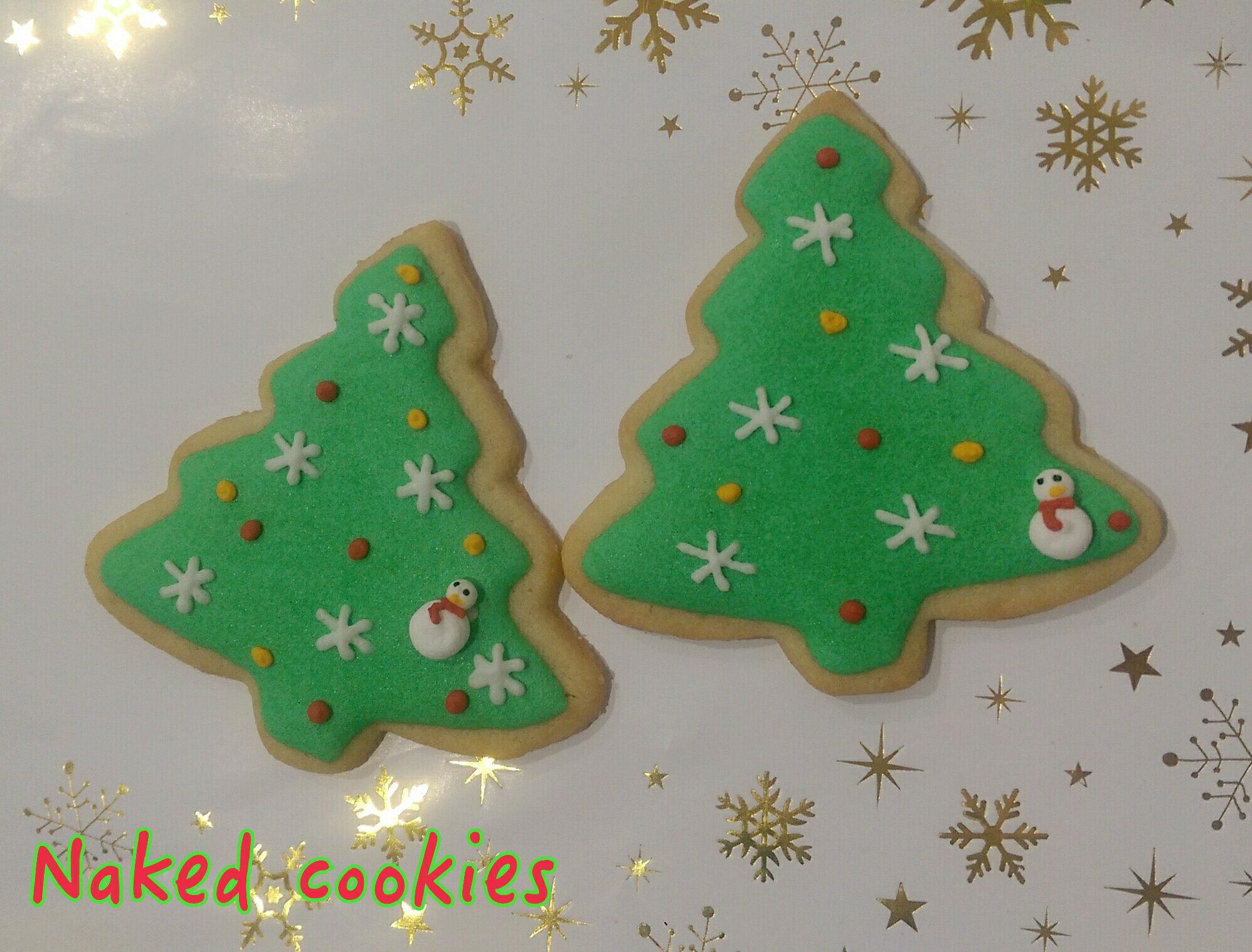 【裸餅乾Naked Cookies】聖誕樹(4)6入-創意手工糖霜餅乾,婚禮小物/生日/活動/收涎/彌月