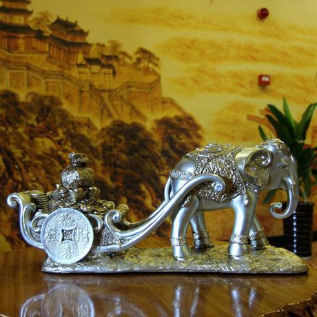 複古大號招財大象擺件家居工藝品玄關裝飾品擺設高檔風水禮品