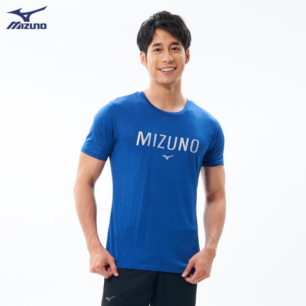 【領券最高折$430】(B4) MIZUNO 美津濃 男 運動上衣 短袖T恤 合身版型 32TA001116 藍【陽光樂活】