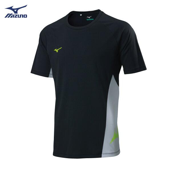 P2TA800709(黑X白)SOLARCUT熱遮蔽材質足球短袖T恤【美津濃MIZUNO】