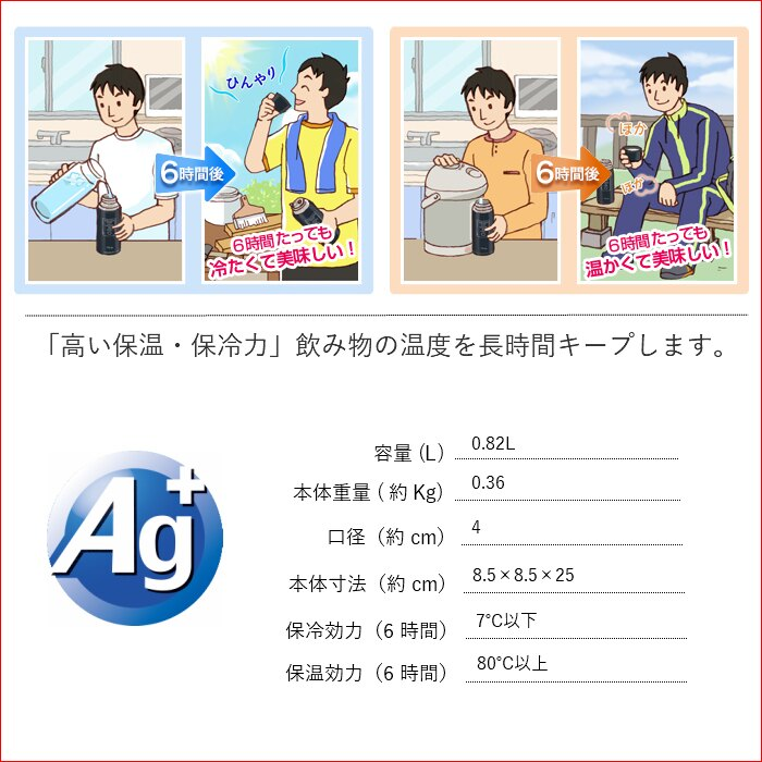 日本象印 不鏽鋼真空 輕量保冷保溫瓶 /  黑色  /  800ml  /  SJ-JS08-BA  / 日本必買代購 / 日本樂天直送 (3330)。件件免運 1