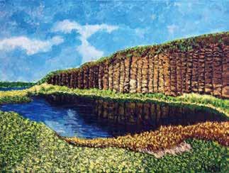 畫作磁鐵-澎湖玄武岩【陳碇堡】馬口磁鐵 / 身障畫家們透過畫作表達自己對台灣這片土地的愛 7.9cm*5.4cm*1.5cm