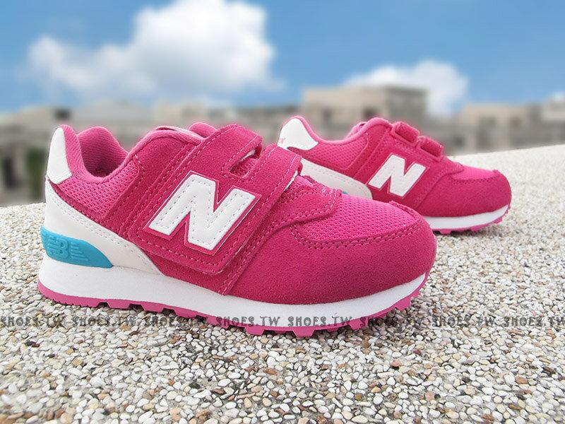 《下殺7折》Shoestw【KV574CZI】NEW BALANCE 574 童鞋 運動鞋 小童 桃紅白