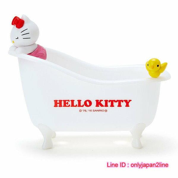 【真愛日本】16110800008浴缸造型置物盤-KT  三麗鷗 Hello Kitty 凱蒂貓 收納架 牙刷架 限量