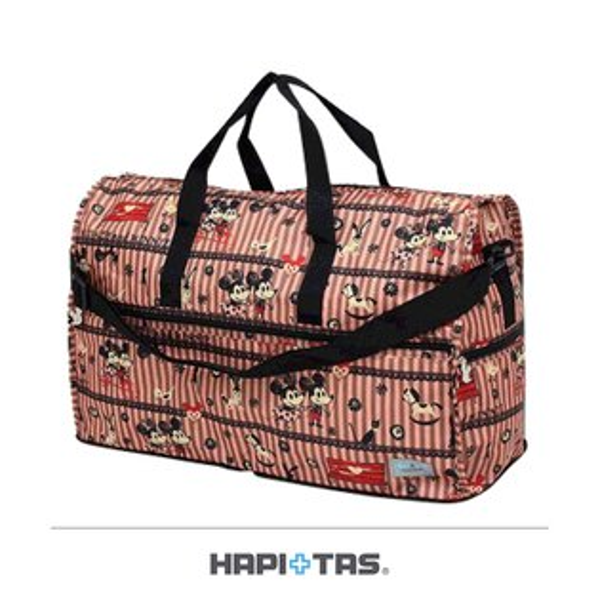 【加賀皮件】HAPI+TAS迪士尼Disney米奇Mickey摺疊可插拉桿手提斜背側背行李袋旅行袋(大)H0004