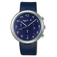agnès b.到agnes b VD53-KC30B(BT3025X1)藝術藍時尚腕錶/藍面40mm