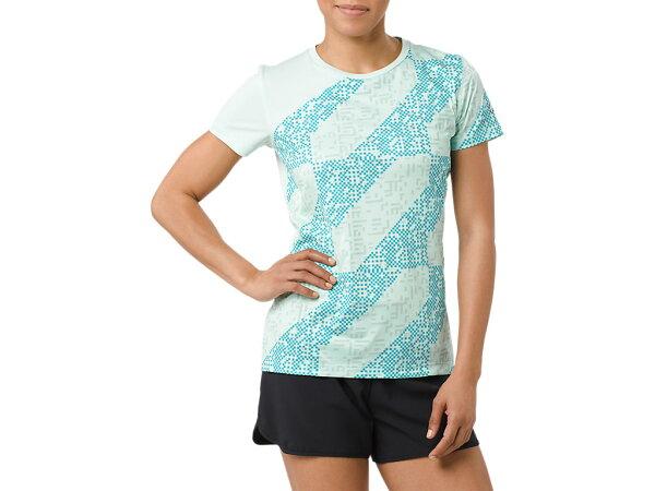 ASICS亞瑟士女短袖T恤LITE-SHOW運動短T151326-1183湖水綠[陽光樂活]