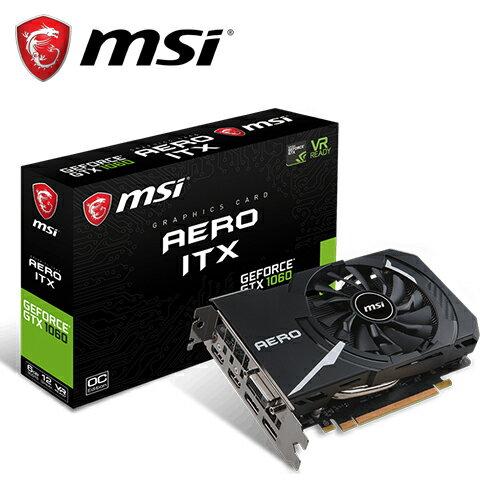 【MSI 微星】GeForce GTX 1060 AERO ITX 6G OC 顯示卡【三井3C】
