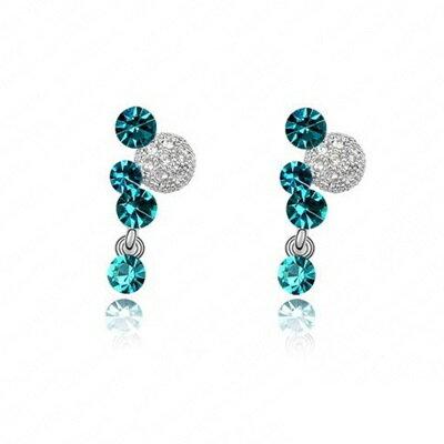 ~925純銀耳環 鑲鑽耳飾~獨特 精緻 七夕情人節生日 女飾品73bj42~ ~~米蘭 ~
