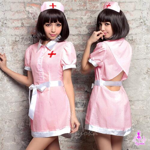 愛的蔓延:愛的蔓延粉紅小露背三件式護士角色扮演服COSPLAYINA15030098