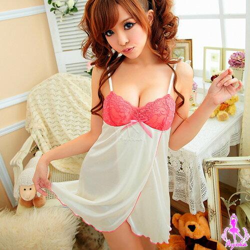 愛的蔓延 魅力全開!側開襟兩件式睡襯衣 性感睡衣 情趣睡衣 11020146-2