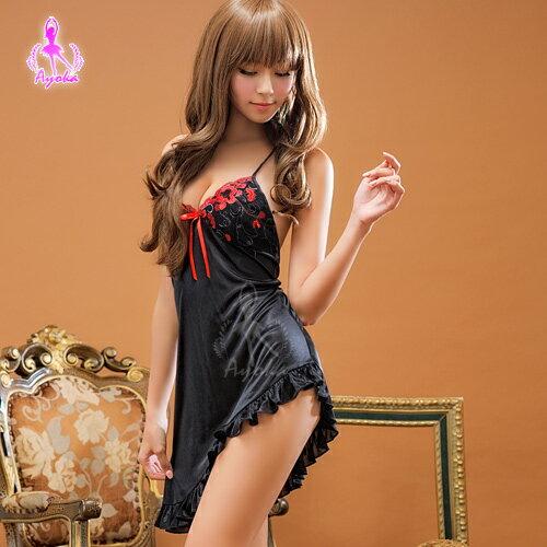愛的蔓延:愛的蔓延溫暖你心!柔緞睡襯衣性感睡衣情趣睡衣13020032