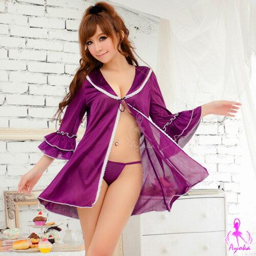 愛的蔓延:愛的蔓延陶醉夢境!嬌媚二件式外罩衫丁褲組性感睡衣情趣睡衣13020015