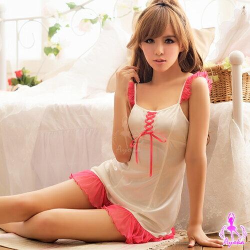 愛的蔓延 亮眼迷人!柔緞睡襯衣 性感睡衣 情趣睡衣 13020053