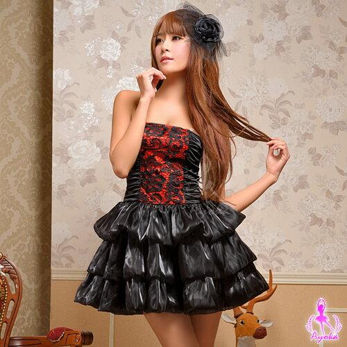 愛的蔓延:愛的蔓延暗夜紅莓!三件式派對角色扮演服角色扮演cosplay情趣用品13030131