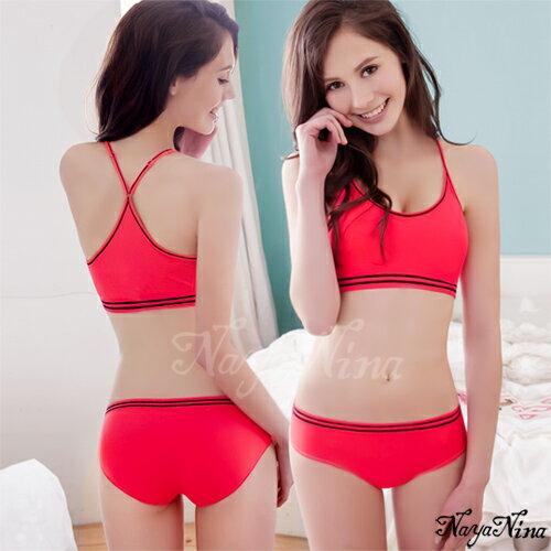 愛的蔓延 玩色!撞色彩條無縫低腰內褲S-XL(桃粉) 運動型內褲 NA14350009