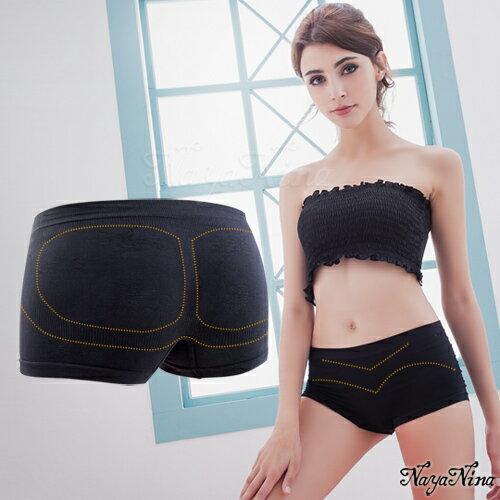 愛的蔓延 簡單生活無縫中腰平口四角安全褲S-XL(黑) 運動型內褲 NA15350010
