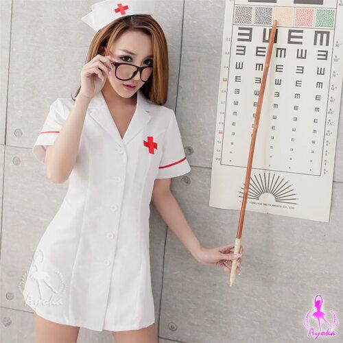 愛的蔓延COSPLAY純白短袍二件式護士角色扮演服SNA14030025