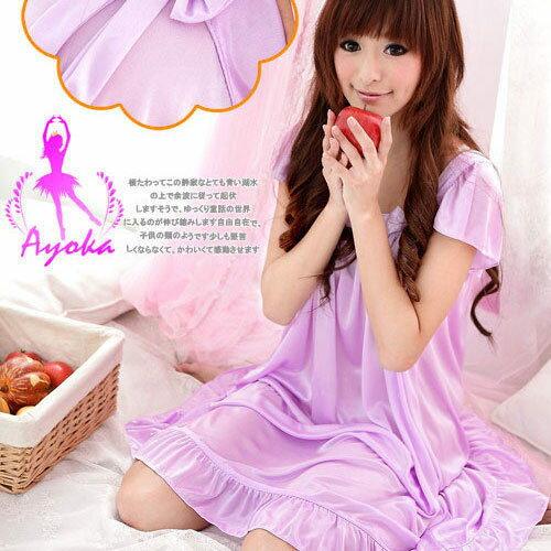 愛的蔓延:愛的蔓延淡紫粉蝶~溫柔甜心性感睡衣情趣睡衣09020021