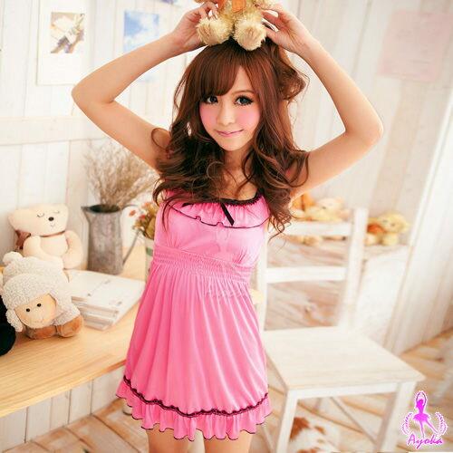 愛的蔓延:愛的蔓延花漾粉粉!可愛發散可愛睡衣睡襯衣UNA-11020083