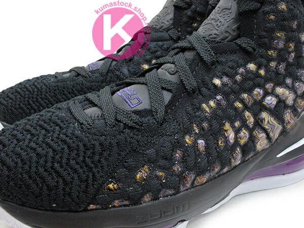 2019-2020 NBA 最新款 LeBRON JAMES 最新代言 NIKE LEBRON XVII GS 17 LAKERS 大童鞋 女鞋 黑紫黃 FLYKNIT 飛織鞋面 前 ZOOM AIR 後 MAX 氣墊 小皇帝 雷霸龍 KING LAKERS 頂級科技 籃球鞋 (BQ5594-004) 1019 2