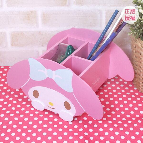 美樂蒂可愛收納盒 桌上收納 小物收納 文具收納 製 三麗鷗 Sanrio 蕾寶 生日 畢業   情人 聖誕  筆筒