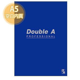 【Double A】A5/25K 膠裝筆記本 DANB15063 辦公室系列 (寶藍/空白/50頁)