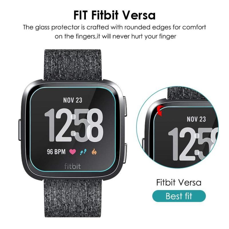 【玻璃保護貼】Fitbit Versa 2 智慧手錶高透玻璃貼/螢幕保護貼/強化防刮保護膜