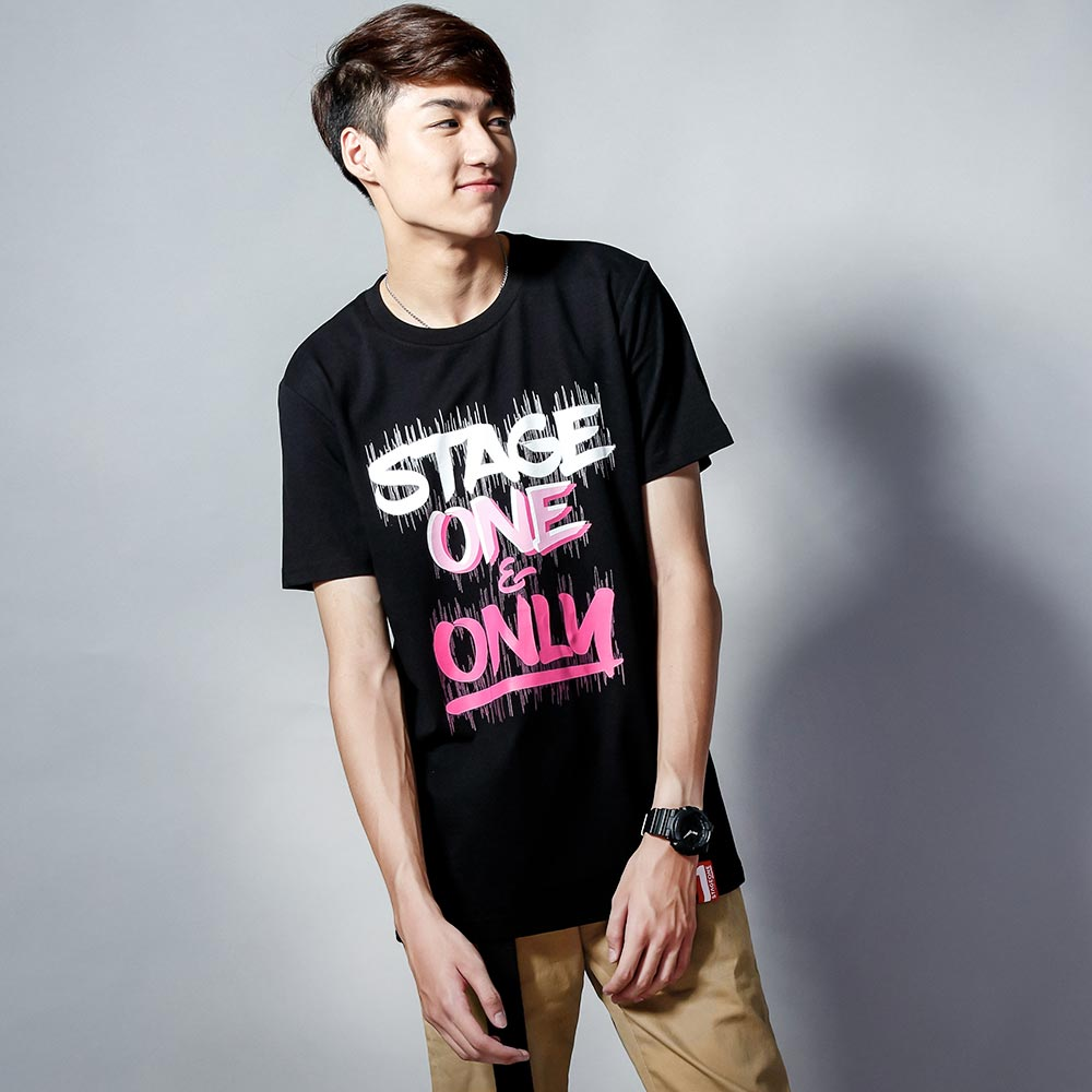 ~ ↘399均一價~STAGEONE ONE   ONLY BRUSH TEE 黑色