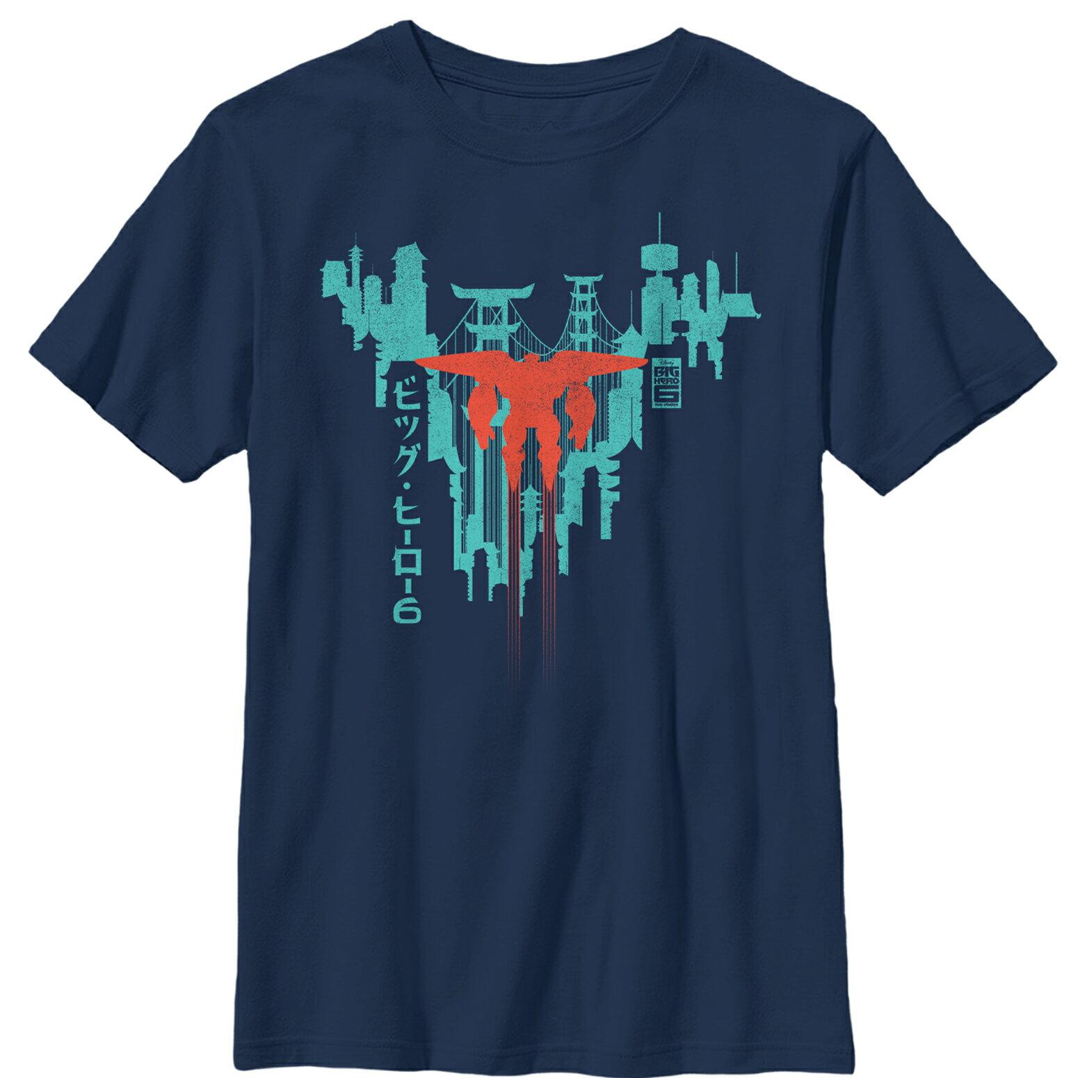 49df883e6 Big Hero 6 San Fransokyo Baymax Flight Boys Graphic T Shirt