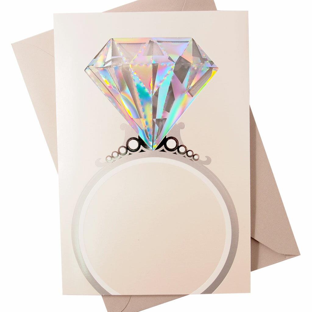 剪刀石頭紙~Signature 系列 結婚卡~戒指~代表著永恆的愛