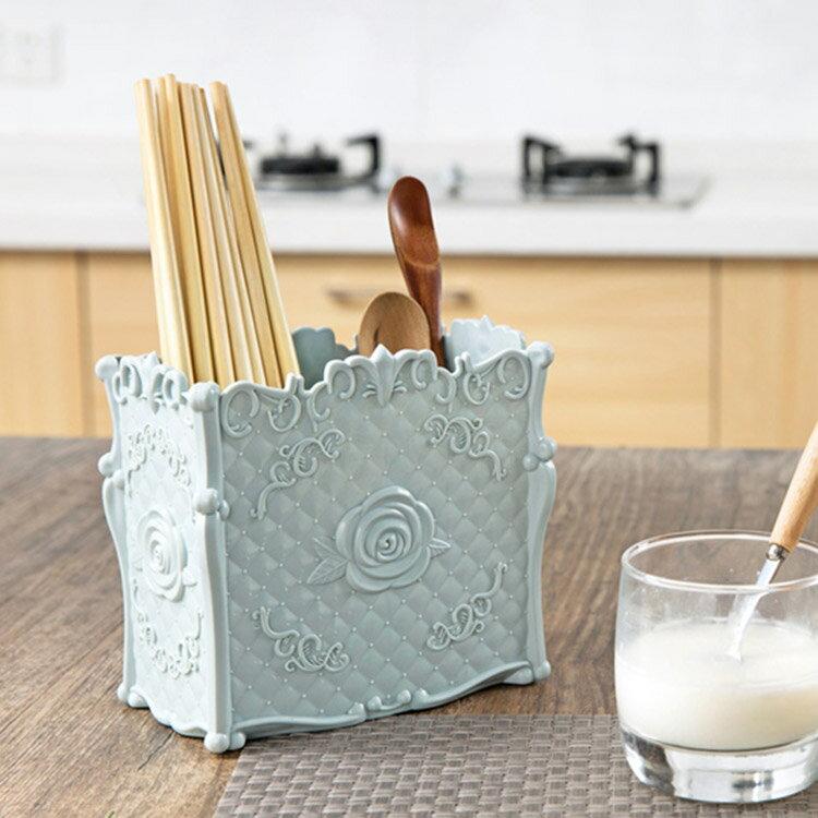 安娜蘇風玫瑰花紋分格瀝水餐具收納架 置物架 (不挑色) DCG0118