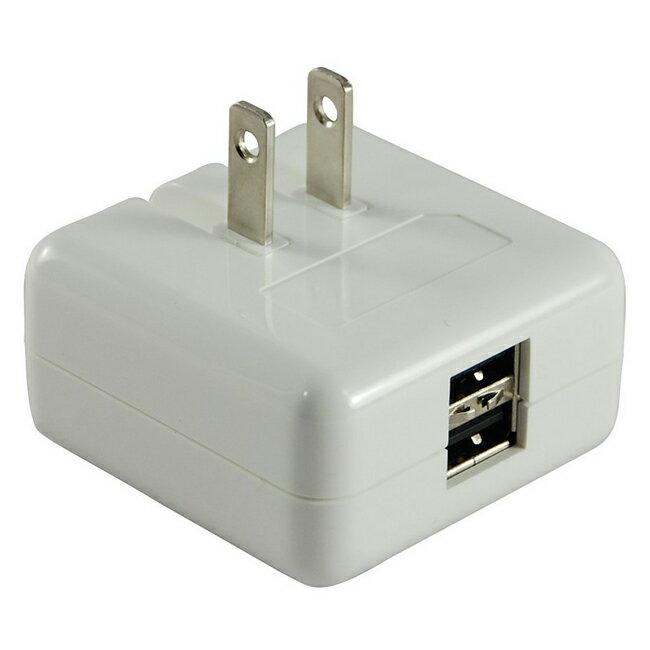 【PLUGO 普樂購】雙USB充電器(2A)/USB031WH