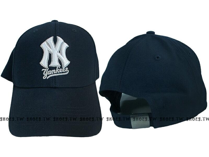 Shoestw【5032064-025】MLB 棒球帽 調整帽 老帽 洋基隊 深藍 凸繡