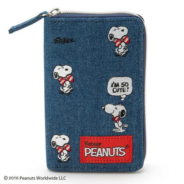 真愛日本:【真愛日本】16080300045拉鍊鎖包-SN大領結單寧藍史努比SNOOPY包包鑰匙包收納包