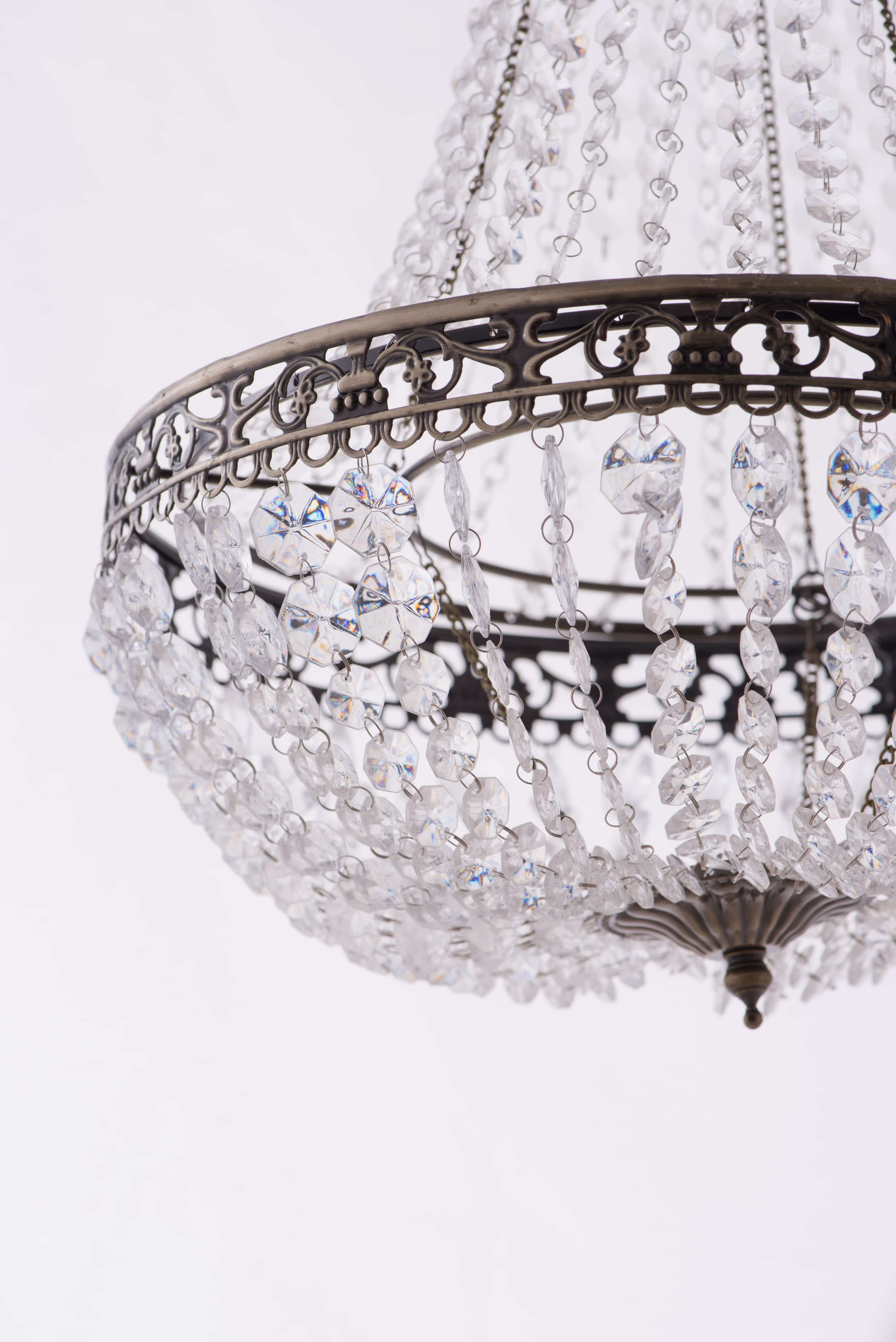 古銅華麗透明壓克力珠吊燈-BNL00050 1
