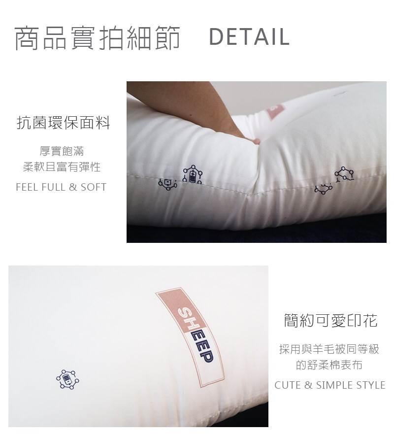 【台灣製造】防蟎抗菌枕(二入) 舒眠 抑菌 防蟎 透氣  ✤朵拉伊露✤ 7