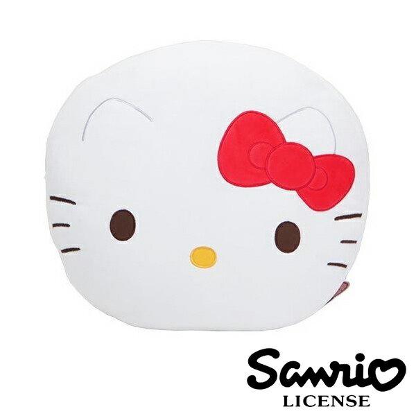 紅色款【日本進口正版】 Hello Kitty 絨面大抱枕 靠墊 午安枕 三麗鷗 凱蒂貓 - 414047