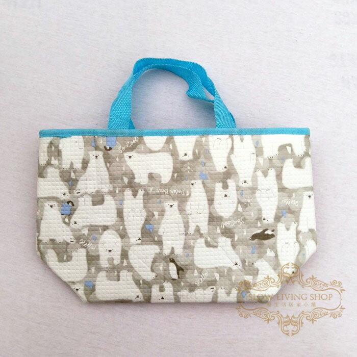 日本進口 (大北極熊-灰)H20CM 保冷袋 保溫袋 便當袋 野餐 露營 手提袋