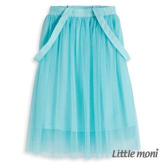Little moni 法式浪漫吊帶式網紗蓬裙 - 淺綠色
