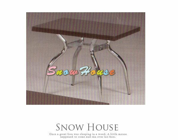 ╭☆雪之屋居家生活館☆╯A385-08 電鍍腳歐風小茶几/餐桌/茶桌/咖啡桌/置物桌**鐵刀木色