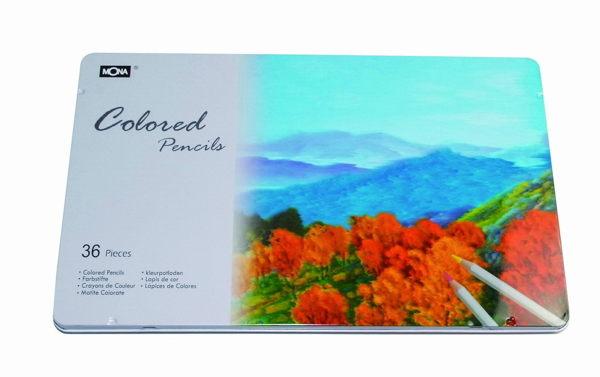 萬事捷 4490~36 MONA 80507 油性色鉛筆~36色入  盒