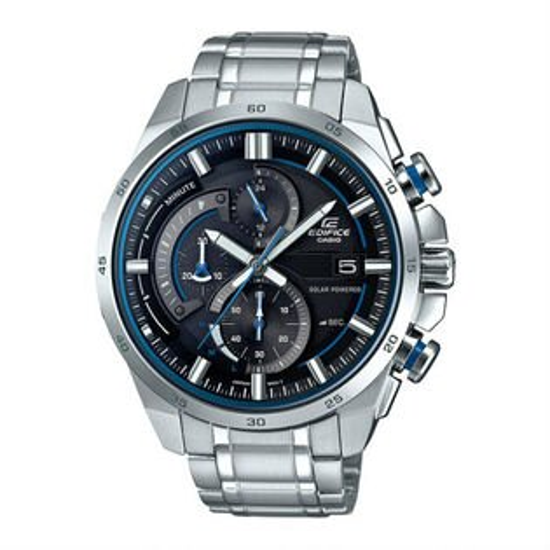 CASIOEDIFICEEQS-600D-1A2太陽能賽車時尚指針腕錶腕錶黑藍49mm