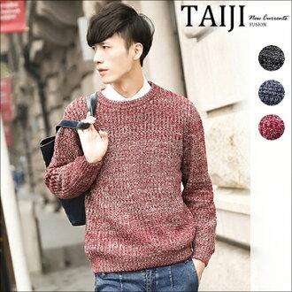 針織毛衣‧簡約素面單色圓領針織毛衣‧三色【NTJBM16801】-TAIJI-