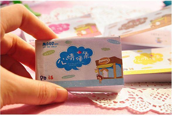 【省錢博士】韓國文具卡通心情便條本 / 可愛迷你心情便簽本彩頁 / 隨機出貨 5