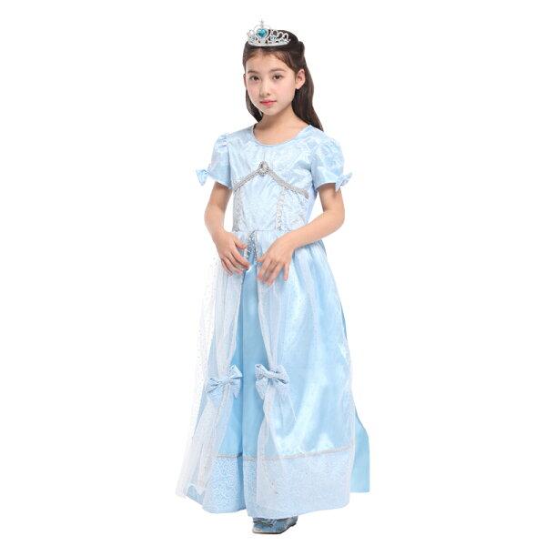 X射線 精緻禮品:X射線【W380030】冰藍公主裝,化妝舞會角色扮演魔女魔術表演萬聖節聖誕節兒童變裝cosplay