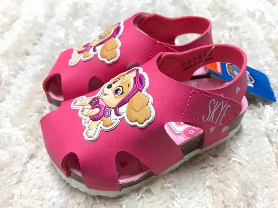 【Jolove】卡通童鞋/PAW PATROL汪汪隊/女童勃肯護趾涼鞋83810