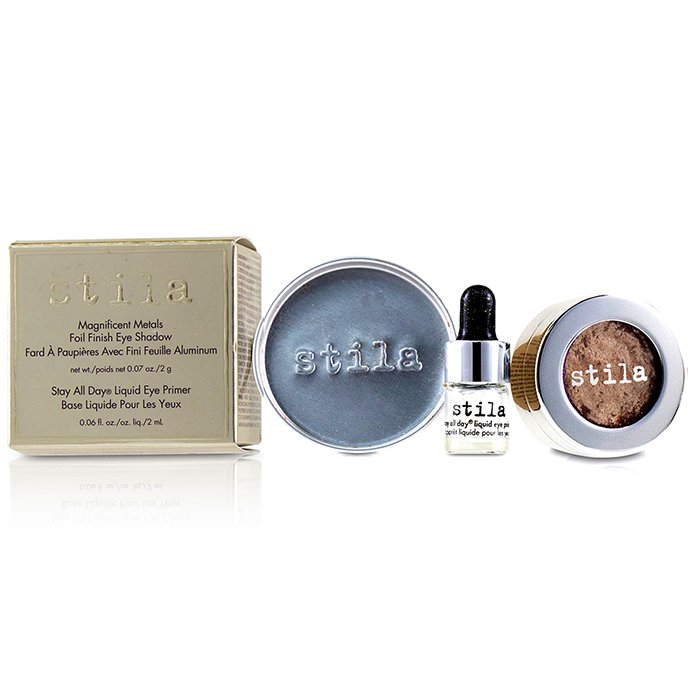 Stila 詩狄娜 金屬色高光眼影 Magnificent Metals Foil Finish Eye Shadow With Mini Stay All Day Liquid Eye Primer - # Metallic Kitten 2pcs
